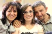 Patrizia y Mariano con Chiara