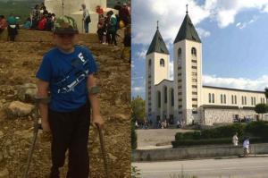 Recuperación milagrosa….. Stephen Reilly, once años, de Galway, fue curado de cáncer de huesos después de su viaje a Medjugorje, un lugar de peregrinación.