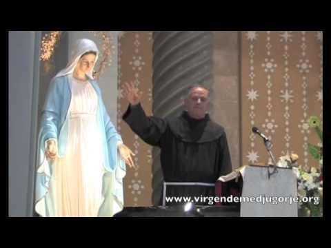 Padre Jozo – Saludos y bendición de la imagen de la Virgen